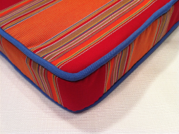 Sunbrella outdoor canvas stripe cushion