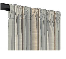 Sunbrella Canvas Sripe Rod Pocket Curtains and Drapes