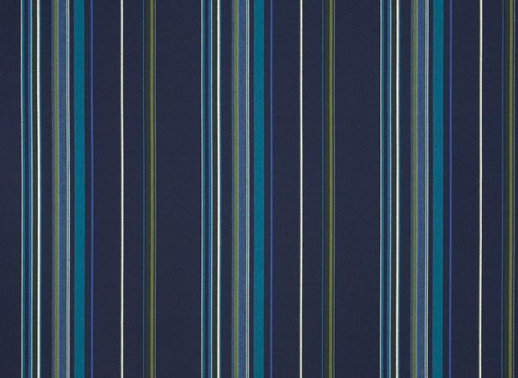 Sunbrella Canvas Stanton lagoon Stripe 58001-0000 outdoor fabric for outdoor curtains and drapes